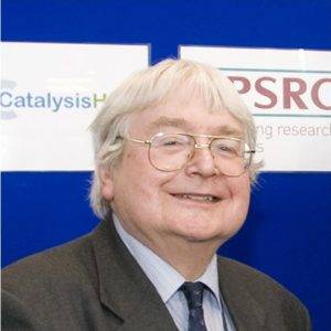 Photograph of Sir Richard Catlow taken at the April 2013 opening of UK Catalysis Hub at the Research Complex at Harwell